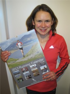 Freya Murray with the 2013 Running Calendar