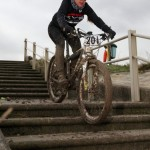 mountain-bike-duathlon-birchington-kent-riding-down-steps