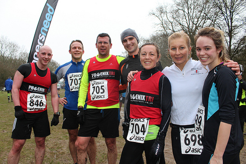 Finishers at the Runners Need G3 event on 9th February 2013 in Surrey, UK.