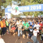 5km Dream run flag off by two famous personality of Goa Beto - footballer & Talasha - swimmer