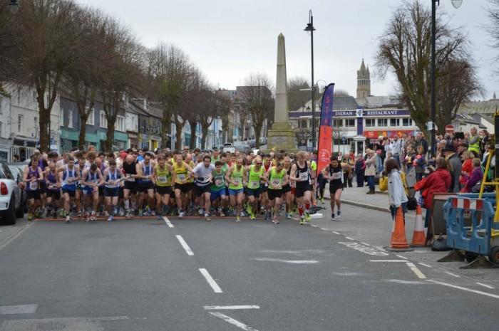 Start of the Run Falmouth Half Marathon 2014